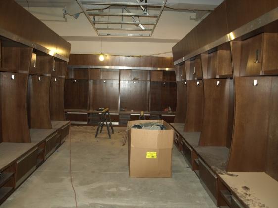 The new locker room under construction